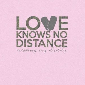 "Toddler T-Shirt ""Love Knows No Distance"" Pink"